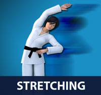 Stretching is a form of physical exercise in which a specific muscle or tendon (or muscle group) is deliberately flexed or stretched in order to improve the muscle's felt elasticity and achieve comfortable muscle tone