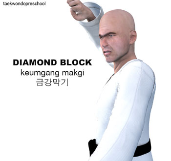 Diamond Block ( 금강막기 keumgang-makgi )