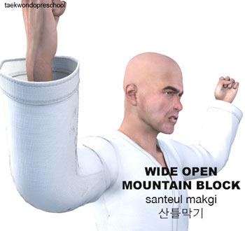 Wide Open Mountain Blocking ( 산틀막기 Santeul makgi )