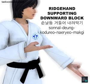Ridgehand Supporting Downward Block