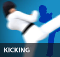 As the human leg is longer and stronger than the arm, kicks are generally used to keep an opponent at a distance, surprise him or her with their range, and inflict substantial damage