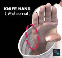 Knifehand area