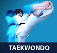 Taekwondo is known for its emphasis on high kicking and fast hand techniques, which distinguishes it from other popular martial arts and combat sports such as karate
