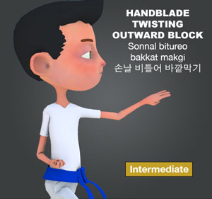 Hand Blade Twisting Outward Block