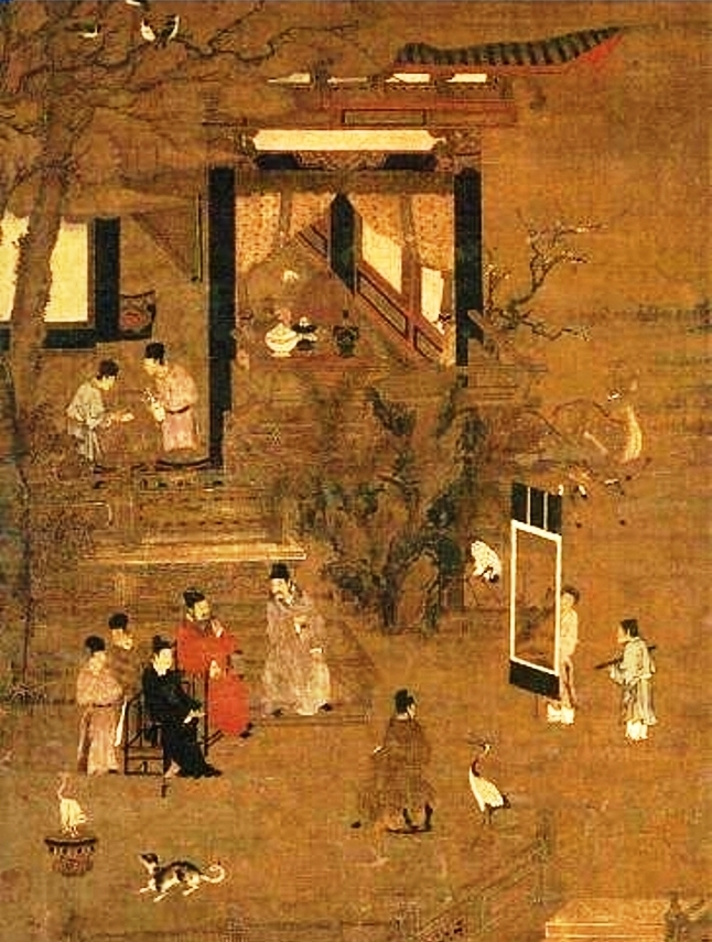 A Goryeo painting which depicts the Goryeo nobility.