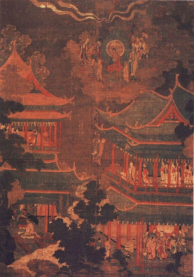 A Goryeo painting depicting the Imperial/Royal Palace.