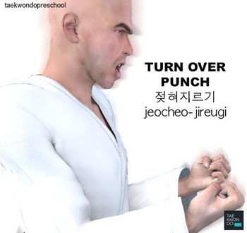 Turn Over Punch ( 젖혀지르기 jeocheo-jireugi )
