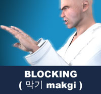 In martial arts, blocking is the act of stopping or deflecting an opponent's attack for the purpose of preventing injurious contact with the body