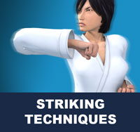 Taekwondo hand strikes are performed as a close distance alternative to kicks