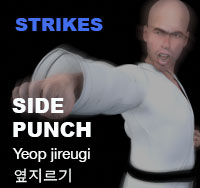 Taekwondo Side Punch (yeop jireugi)